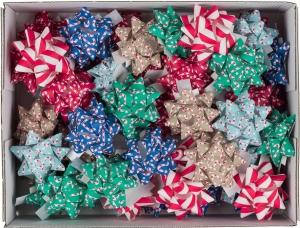 Stelle adesive con decori Natale, in confezione da 50 pezzi. Vendita all'ingrosso online