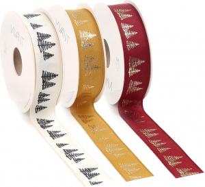 Nastro in tessuto fir, disponibile in bordeaux, senape e panna. vendita all'ingrosso e online
