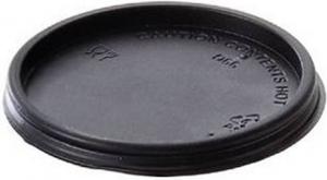 Coperchio nero in ps piatto per bicchiere take away 75ml - vendita online all'ingrosso b2b