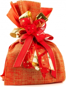 Buste gold net etoffe patisserie rosse, confezione da 10 pezzi. Vendita all'ingrosso e online