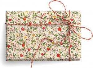 Carta regalo con rami bacche e decorazioni. Vendita all'ingrosso e online