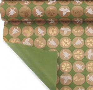 Bobina in carta xmas therapy color verde. Disponibile anche in rosso. Vendita all'ingrosso e online
