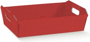 Cesti in cartoncino rinforzato rosso. Ordina on line