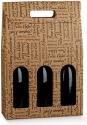 Scatole per tre bottiglie con maniglia