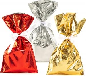 Buste da regalo tweed in confezione da 25 pezzi. Disponibile in rosso, oro e argento. vendita all'ingrosso e online
