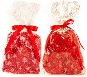 Buste da regalo light alberelli, in confezione da 50 pezzi. vendita all'ingrosso e online