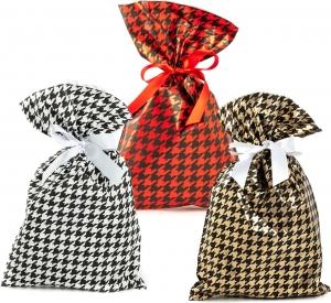 Buste da regalo Pied de poule in confezione da 50 pezzi, disponibile in rosso, oro e argento. Vendita all'ingrosso e online