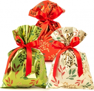 Buste regalo winter wind, disponibile in rosso, verde ed ecrù. Vendita all'ingrosso e online