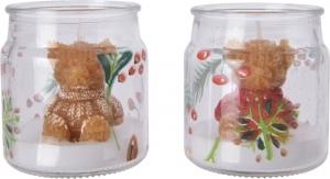 Candela in vaso con decoro orsetto