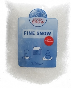 Busta di neve artificiale grana fine