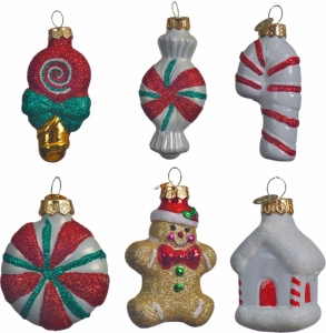 Decori natalizi in vetro per albero di natale