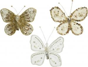 Clip farfalla con perle