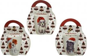 Mug in porcellana cuccioli con confezione regalo