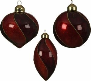 Ornamento natalizio in vetro pendente