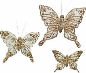 Clip con farfalle glitterate (3 pezzi)