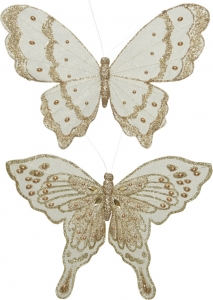 Clip farfalla con strass