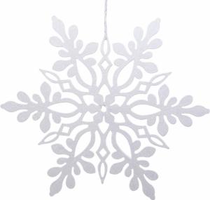 Fiocco di neve glitterato