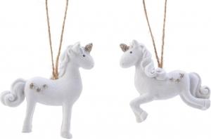 Unicorno pendente bianco