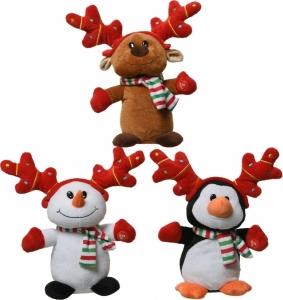 Peluche natalizio in movimento con sciarpa