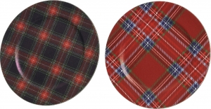 Piatto scozzese in plastica