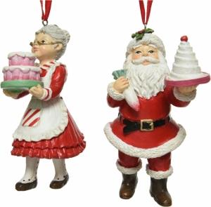 Personaggio pendente natalizio in poliresina