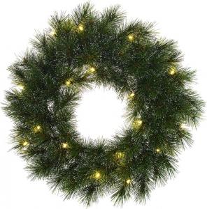 Corona di pino pre-illuminata glendon