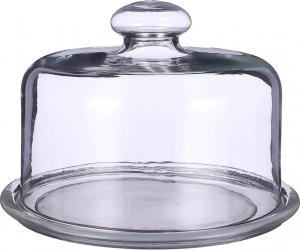 Piatto in vetro con campana