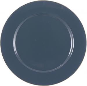 Piatto decorativo in plastica blu