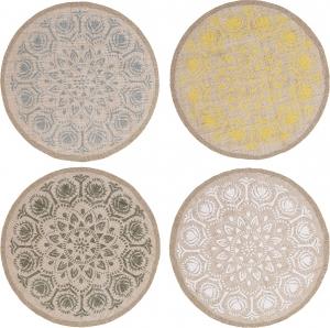 Tovaglietta tonda con decoro mosaico