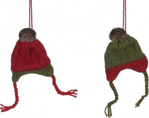 Cappello decorativo rosso e verde