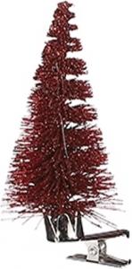 Clip con alberello natalizio rosso (6 pezzi)