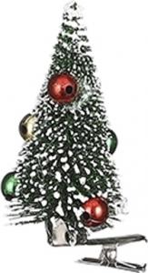 Clip con alberello natalizio verde (6 pezzi)