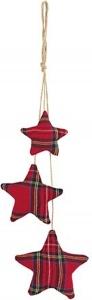 Stelle scozzesi pendenti con cordino