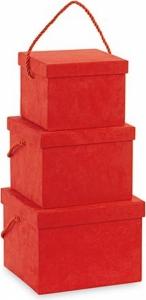 Scatola quadrata rossa con cordino