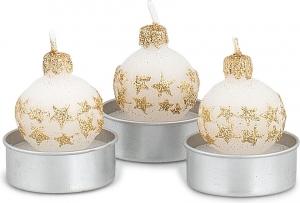 Tea-light con stelle (6 pezzi)