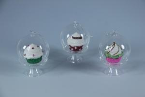 Pendente in ventro con cupcake colorato