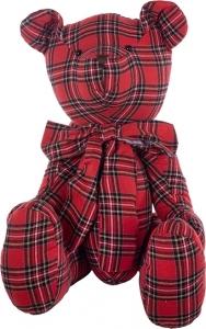 Orsetto tartan rosso 80cm