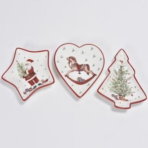 Piatto di ceramica fantasia natalizia