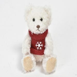 Osetto bianco con maglione e fiocco