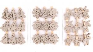 Mollettine natalizie grigie (12 pezzi)