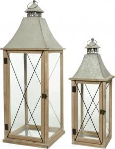 Lanterna in legno naturale. Disponibile in due formati. Vendita all'ingrosso e online