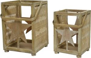 Lanterna in bamboo. Disponibile in due formati. Vendita all'ingrosso e online