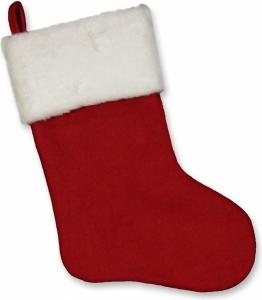 Calza natalizia rossa