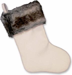 Calza natalizia bianca