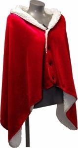 Mantella pile con interno ecopelliccia rosso