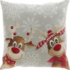 Cuscino natalizio con stampa renne