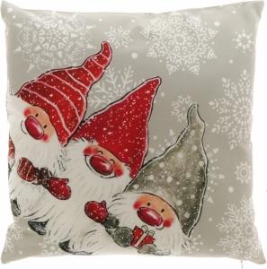 Cuscino natalizio con stampa elfi