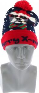Cappello natalizio blu