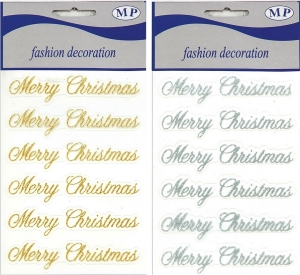 Scritte merry christmas (6 pezzi)