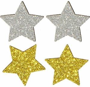 Stelle glitterate oro (12 pezzi)